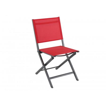 Chaise de jardin pliante Censo Rouge
