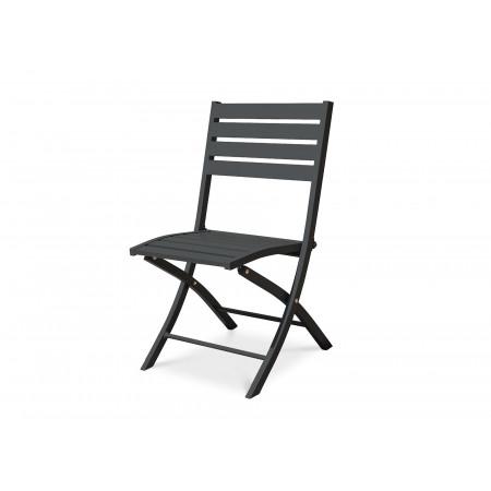 Chaise de jardin pliante Marius Anthracite