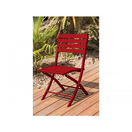 Chaise de jardin pliante Marius Rouge