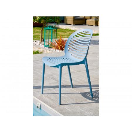 Chaise de jardin PVC Olbia Azur