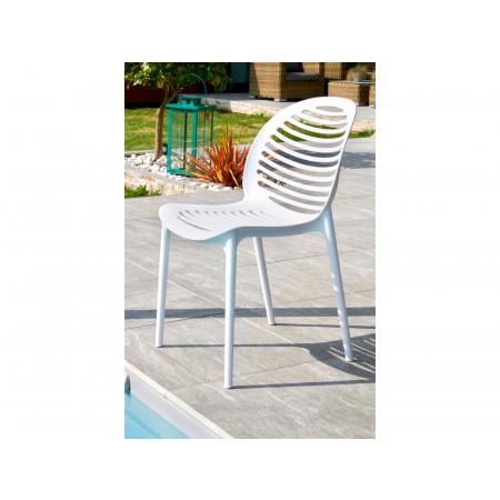 Chaise de jardin PVC Olbia Blanc