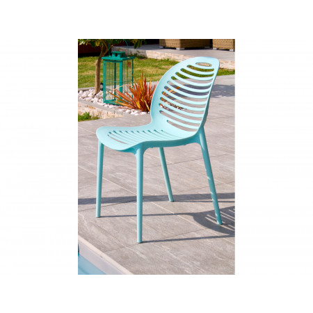 Chaise de jardin PVC Olbia Lagune