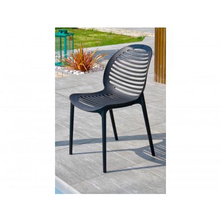 Chaise de jardin PVC Olbia Anthracite