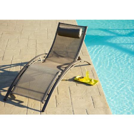 Chaise longue Alu Cappuccino