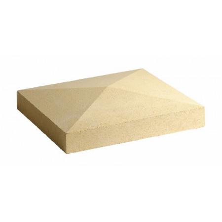 Chapeau de pilier en pointe beige 50x50