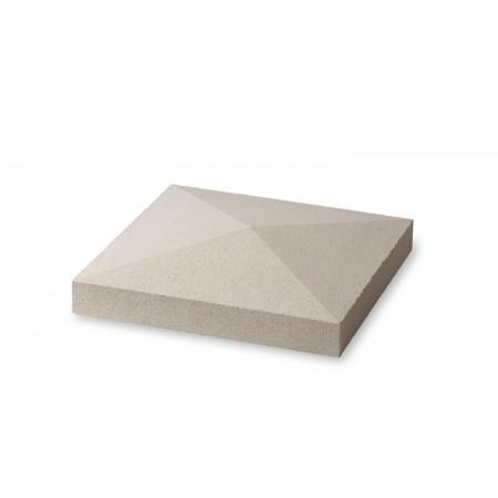 Chapeau de pilier en pointe  blanc 50x50