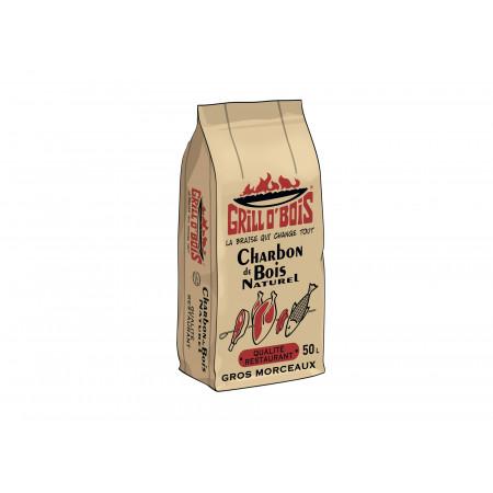 Charbon de bois Grill O'Bois Qualité restaurant 50L