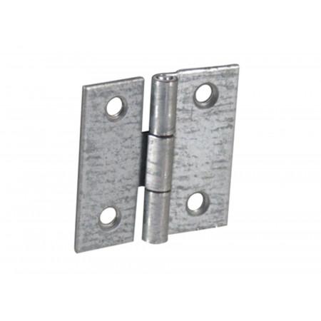 Charnière carrée 40x40mm acier zingué x2