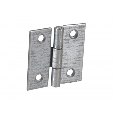 Charnière carrée 60x60mm acier zingué x2