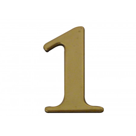 Chiffre adhésif plastique doré n°1 H.40mm
