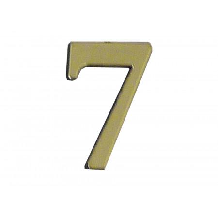 Chiffre adhésif plastique doré n°7 H.40mm