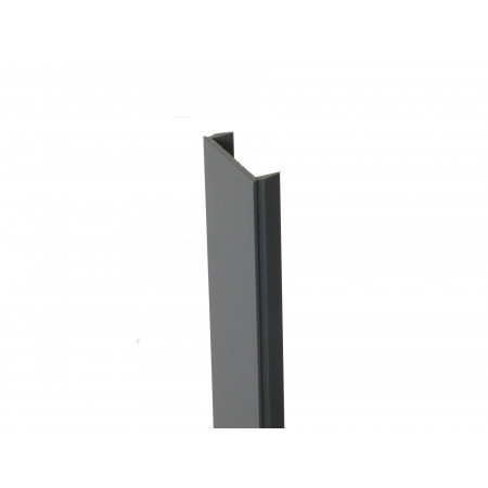Clip de finition PVC gris anthracite