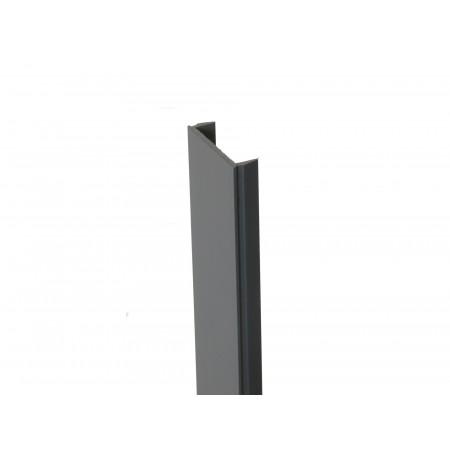 Clip de finition PVC gris clair