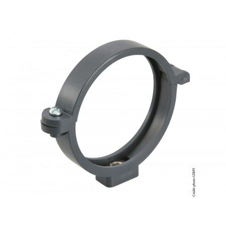 Collier à insert PVC 7x150 Ø80 Ardoise