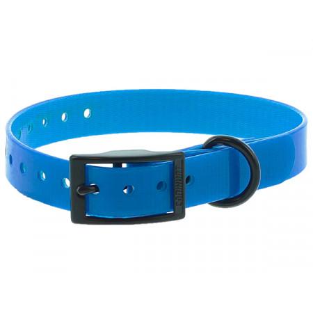 Collier chien polyuréthane boucle double 0,25x45cm bleu