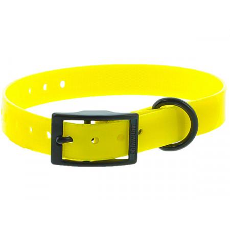 Collier chien polyuréthane boucle double 0,25x45cm jaune