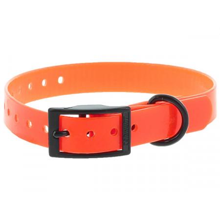 Collier chien polyuréthane boucle double 0,25x45cm orange