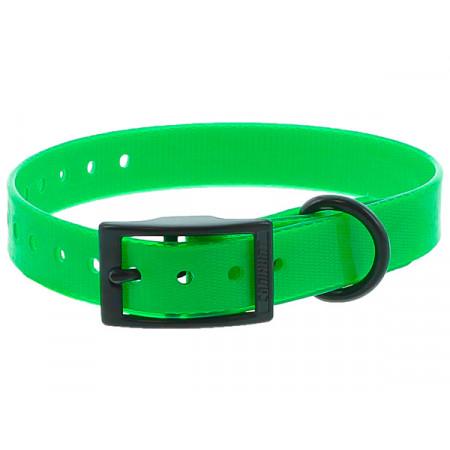 Collier chien polyuréthane boucle double 0,25x45cm vert