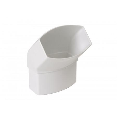 Coude 45° Ondella Mâle / Femelle Blanc