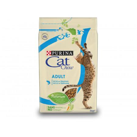 Croquettes chat adulte PURINA CAT CHOW saumon 3kg