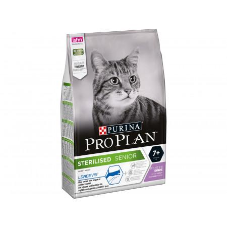 Croquettes chat adulte stérilisé +7ans PRO PLAN 3kg