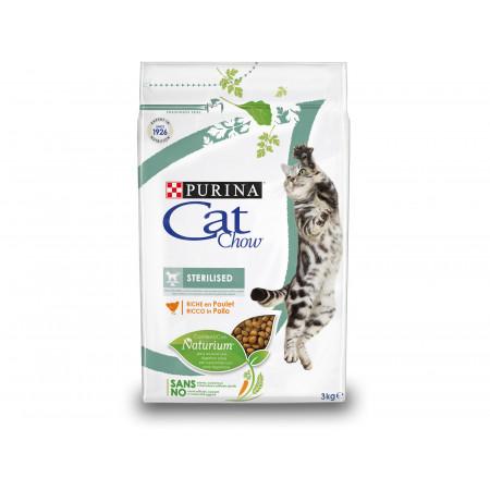 Croquettes chat adulte stérilisé PURINA CAT CHOW 3kg