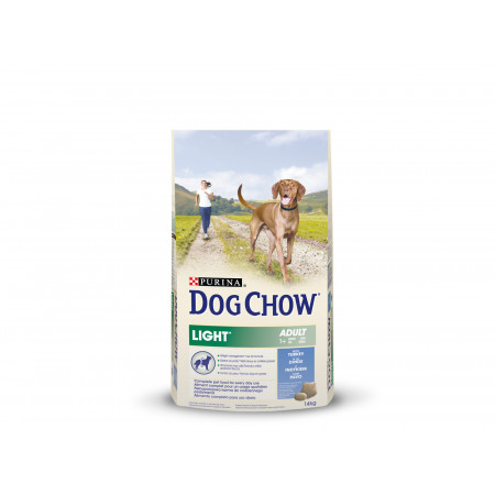 Croquettes chien adulte DOG CHOW light dinde 14kg