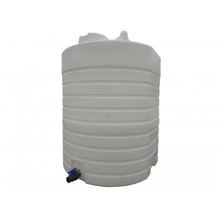 Cuve verticale à eau 13300L densité 1 avec vanne PVC