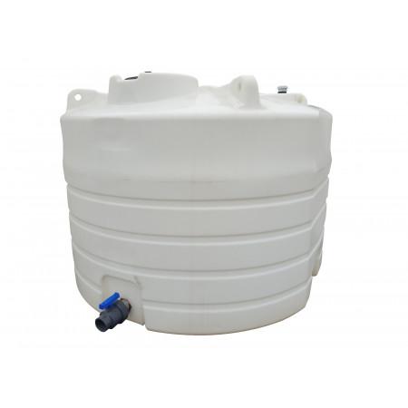 Cuve verticale à eau 7700L densité 1 avec vanne PVC
