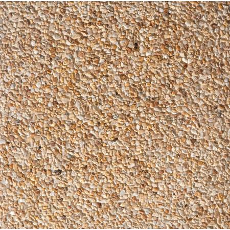 Dalle gravillons 40x40x3,7cm Ivoire