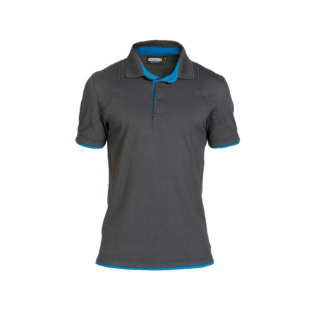 Polo homme DASSY® Orbital Gris/bleu