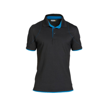 Polo homme DASSY® Orbital Noir/bleu