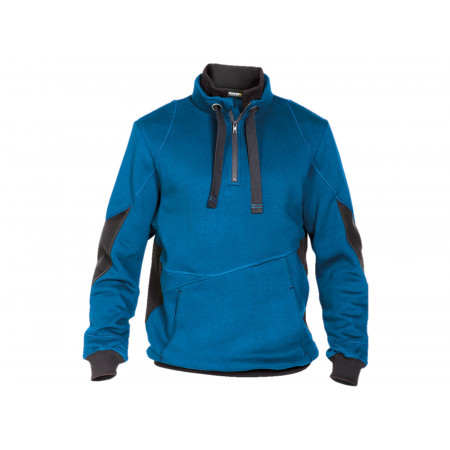 Sweat shirt zippé Stellar bleu/gris