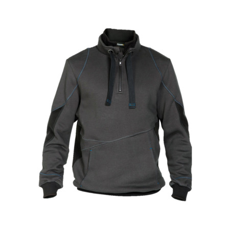 Sweat shirt zippé Stellar gris/noir