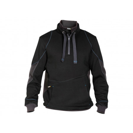 Sweat shirt zippé Stellar noir/gris