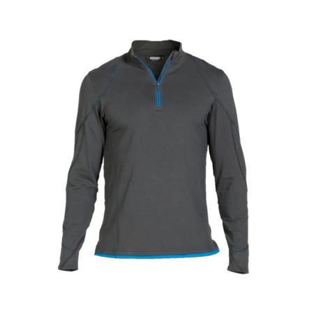 T-shirt zippé DASSY® Sonic gris/bleu