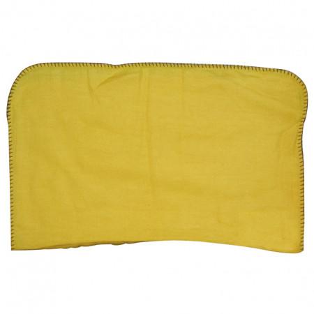 Chamoisine unie jaune 40x50 TISSAGES DE BEAULIEU