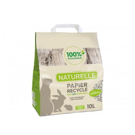 Litière naturelle papier recyclé Perlinette 10L