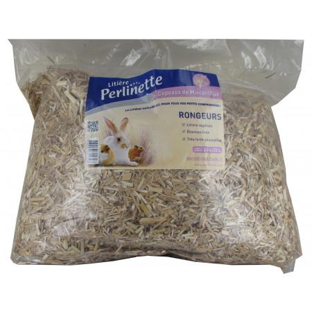Litière végétale miscanthus Perlinette 3kg