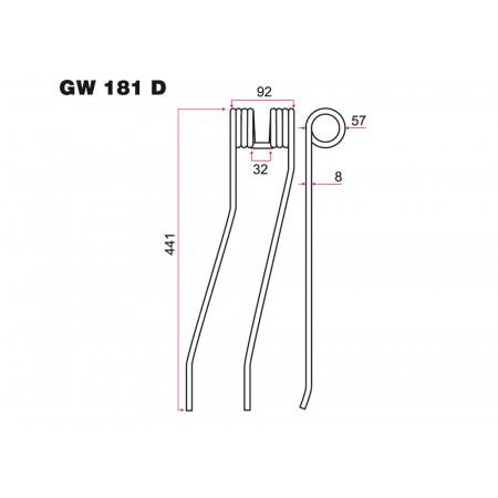 Dent andaineur D FELLA GW 181