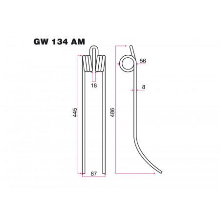 Dent andaineur FAHR GW 134