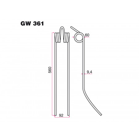 Dent andaineur FELLA GW 361