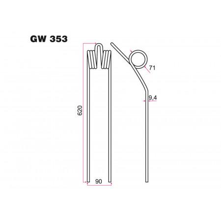Dent andaineur KUHN GW 353