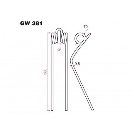 Dent andaineur KUHN GW 381