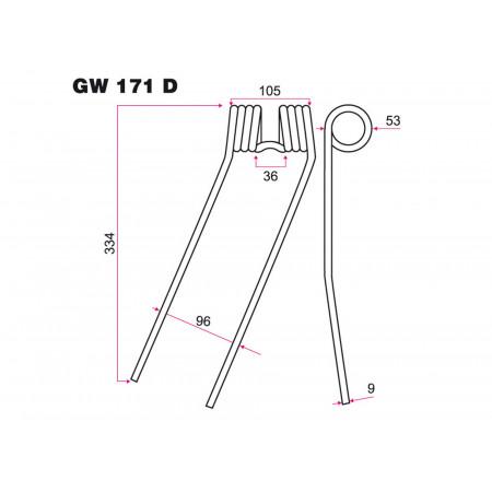 Dent de fenaison D FAHR GW 171