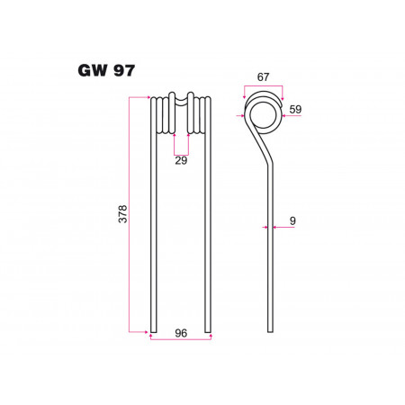 Dent de fenaison FARH GW 97