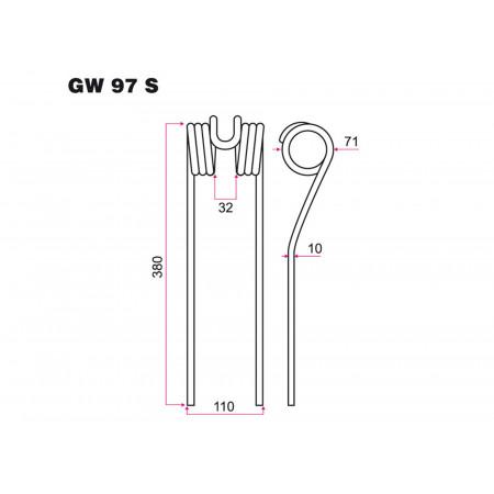 Dent de fenaison FARH GW 97S
