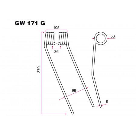 Dent de fenaison G FAHR GW 171