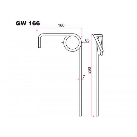 Dent de semoir AMAZONE GW 166