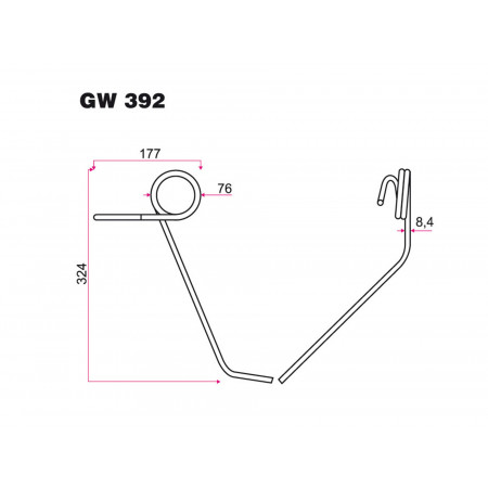 Dent de semoir KUHN GW 392